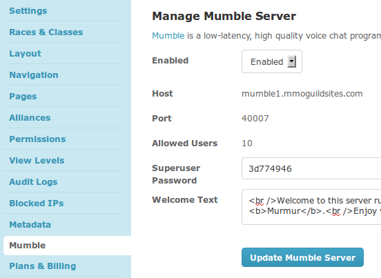how to use murmur for local server